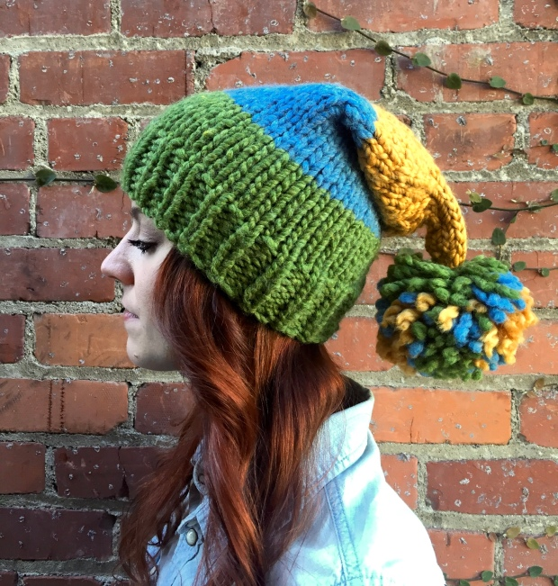 The Earth Day Beanie; inspired by a sunny day.