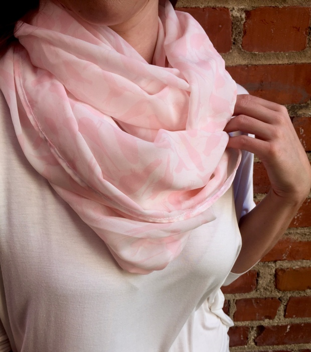 The Blush Pink Birdie sheer infinity scarf! Love this one...